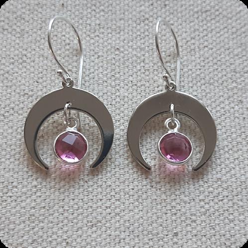 Pink Tourmaline - Silver