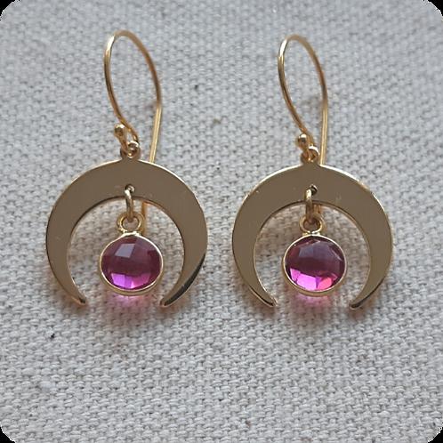 Pink Tourmaline - Gold