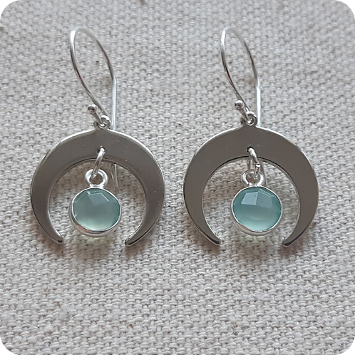Blue Chalcedony - Silver