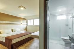 Luz Hotel- Apto Duplo Casal - Banheiro