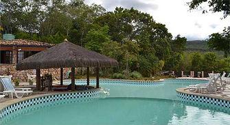 Hotel Portal Lençóis- Piscina - Área de