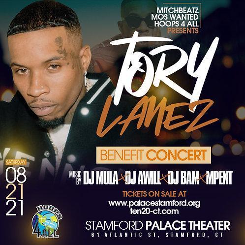 TORY LANEZ LIVE TIX & BACK STAGE PASSES