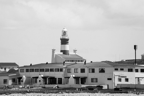 The lighthouse at Cape Aghullas.