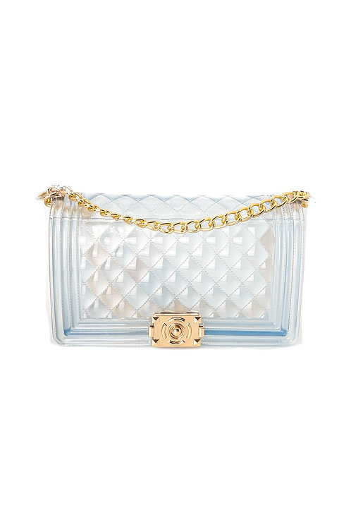 Quilted Jelly Crossbody Shoulder Bag