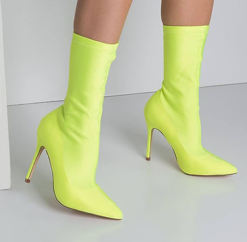 Yellow neon shoes