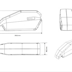 Ebattery Bosch Active-Performance downtube afmetingen