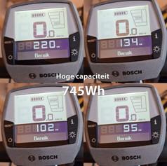 Hoge capaciteit Bosch 745Wh