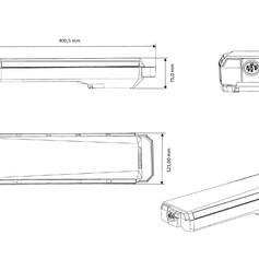 Ebattery Bosch Active-Performance bagagerek afmetingen