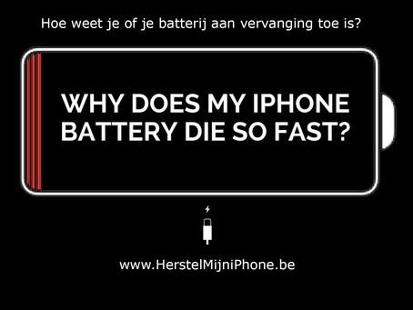 Hoe weet je of de batterij van je iPhone aan vervanging toe is?
