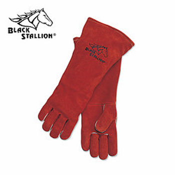 Black Stallion 101R-18 Premium Split Cowhide Stick Gloves