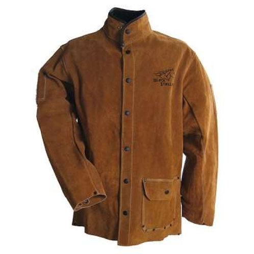 Black Stallion Jackets: Side Split Cowhide Welding