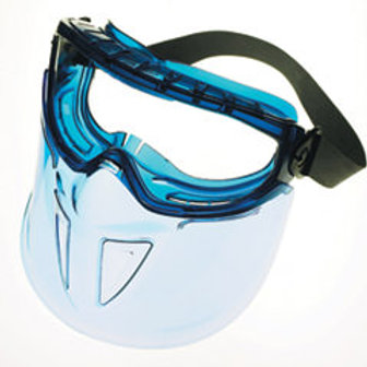Anti-fog lenses Features Monoggle XTR with full face protection.