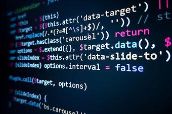 Software source code. Programming code.