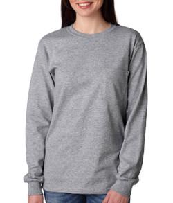 Adult Long Sleeve Pocket T-Shirt
