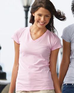 LAT LadiesJunior Fit V-Neck T-Shirt