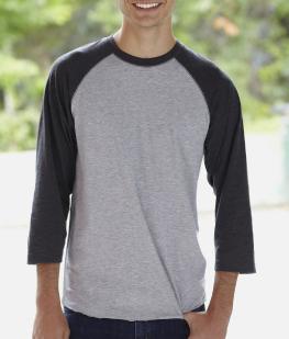Adult 3/4 Sleeve Baseball T-Shirt
