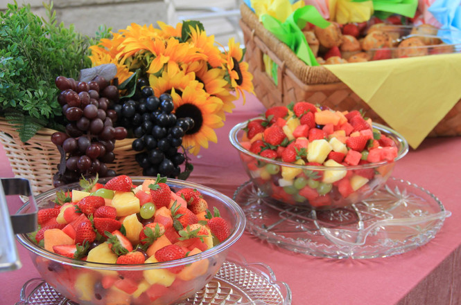 fruit bowls and platters