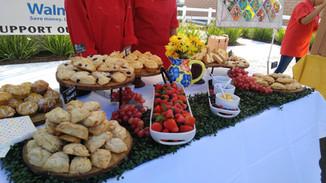 scones and berries