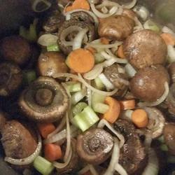 The beginning of a mushroom stock