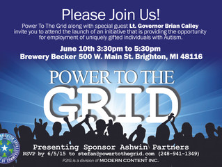 Power To The Grid Ribbon Cutting Event set for June 10, 2015.
