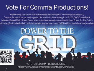 Vote for Comma Productions! They are in the running for a $100,000 Chase Bank Mission Based Main Str