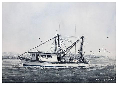shrimp boat painting