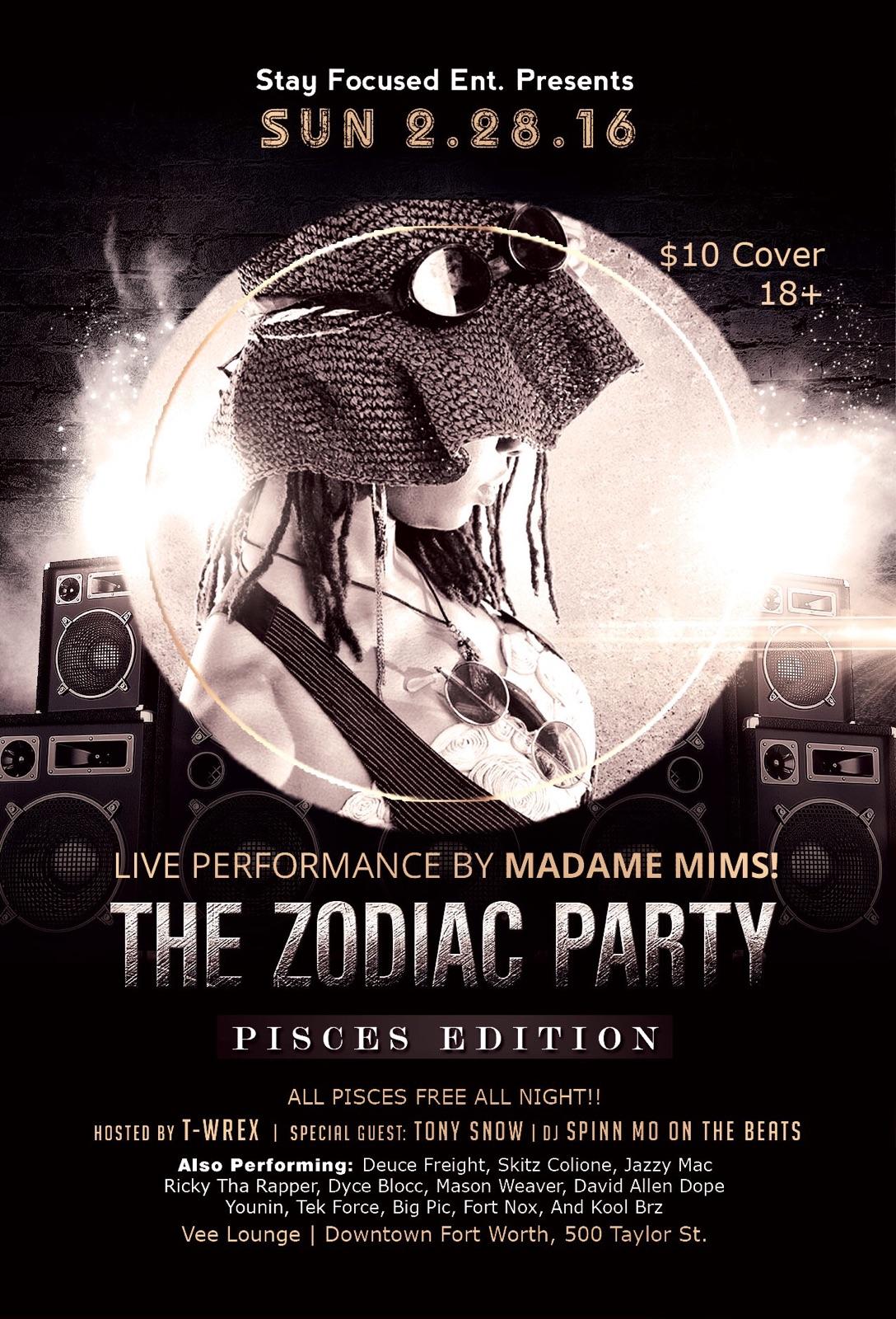 Vee Lounge - Zodiac Party