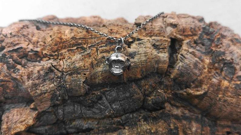 Large Chimp Pendant