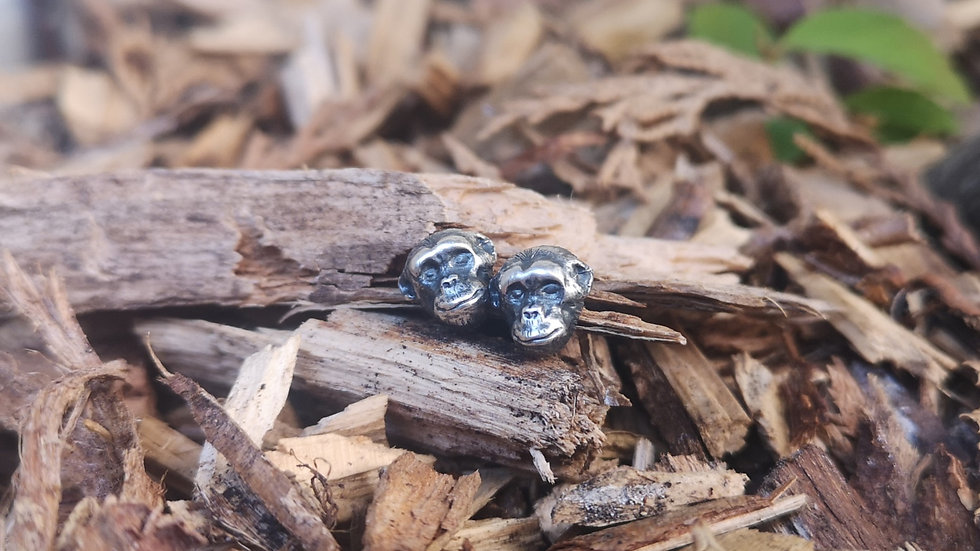 Chimp Earring Studs