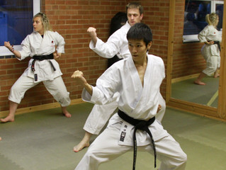 Visitor from Japan, Kenshin, he trains under the tutition of Mikio Yahara (9th Dan)