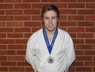Alex wins silver at A.M.A. Internationals 2013