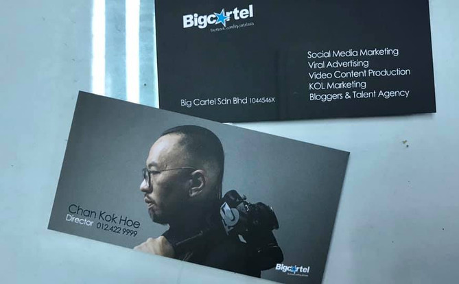 business card with style headshot