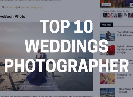 Top 10 Weddings Photographer in Penang