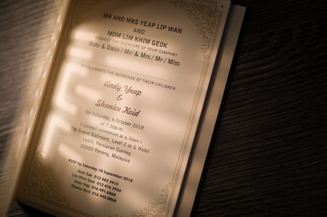 Invitation Card - Wedding Day Photography