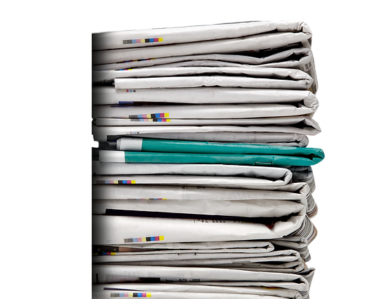 A pile of Newspaers