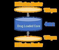 IVR Drug loaded core