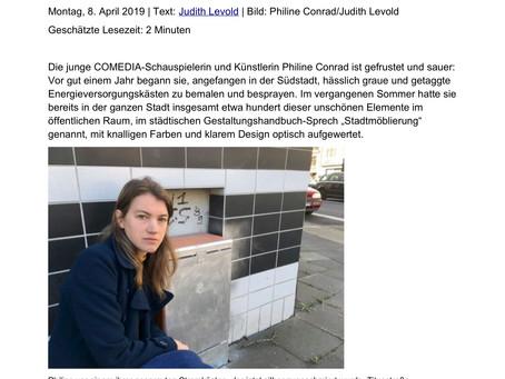 """MEINESUEDSTADT.DE: """"Zerstörte Kunstwerke - Was soll der Scheiß?"""" (Artikel)"""