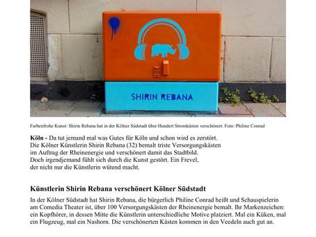 """EXPRESS: """"Vandalen zerstören Kunstwerke von Philine Conrad"""" (Artikel)"""