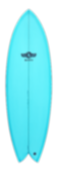 Red resin tint single fin