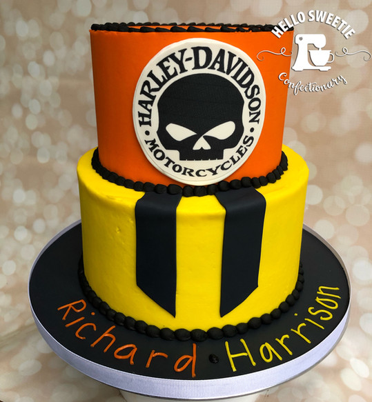 Harley-Davidsion cake design by Hello Sweetie Confectionary