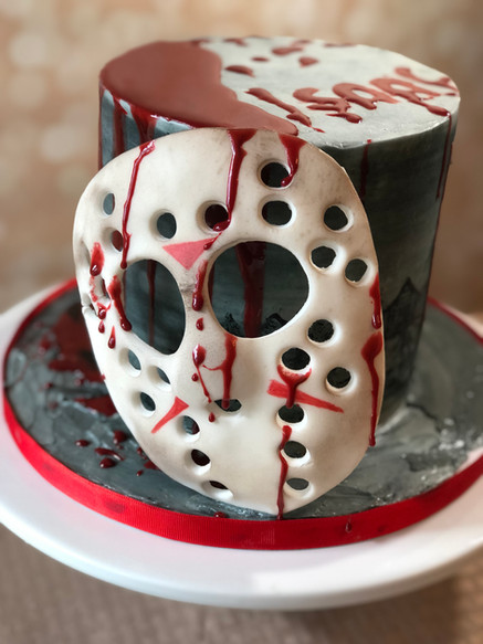 Friday the 13th cake design by Hello Sweetie Confectionary