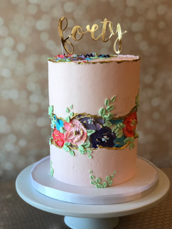 floral Birthday Cake design by Hello Sweetie Confectionary