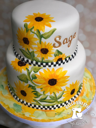 Sunflower cake design by Hello Sweetie Confectionary