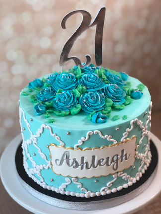 Birthday Cake design by Hello Sweetie Confectionary