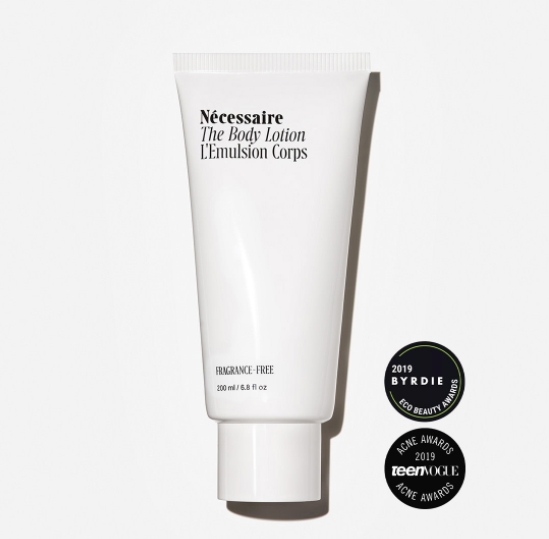 A white tube of Necessaire The Body Lotion