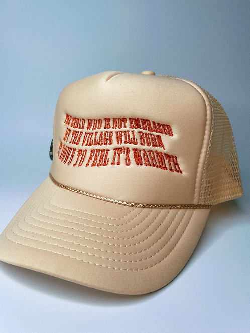 """""""EPISODE 5: AS ABOVE, SO BELOW"""" TRUCKER (OFF-WHITE/ORG)"""