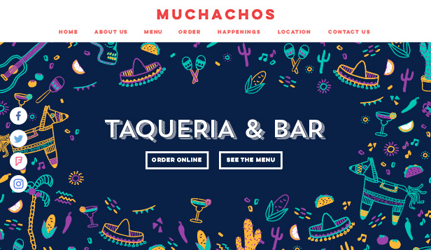 Bar og klubb website templates – Meksikansk taqueria