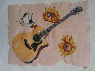 Workshop #1: recycled paper collage
