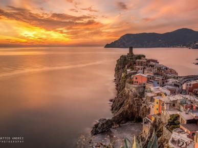 Vernazza al tramonto , 5 Terre - Matteo Andrei Photograpnhy