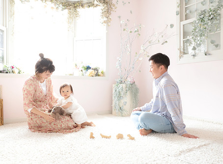 ナチュラルで可愛い家族写真